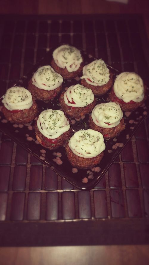 Mini Meatloaf Cupcakes