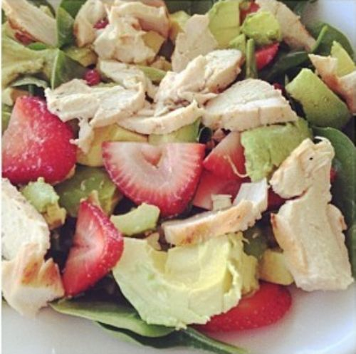 Chicken & Strawberry Spinach Salad
