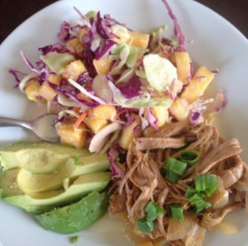 Pulled Pork with Avocado & Pineapple Coleslaw