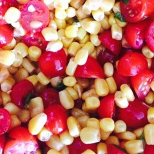 Tomato, Basil and Corn Salad
