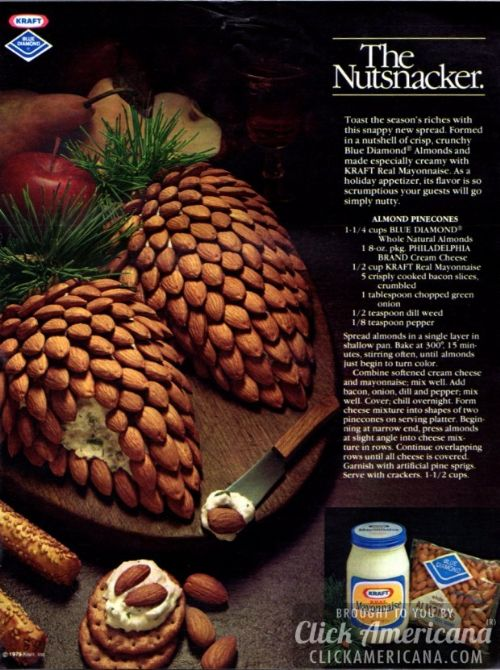 Almond Pinecone Cheese Balls