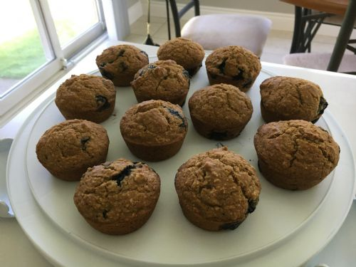 Blueberry Oatmeal Muffins -Gluten free, Dairy free