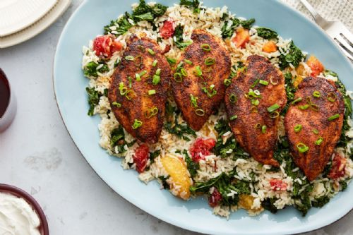 Blackened Chicken & Rice with Blood Orange