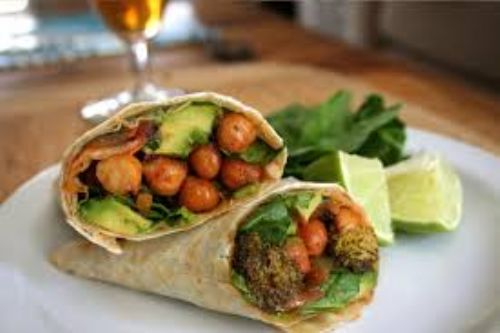 Roasted Chickpea & Broccoli Burrito