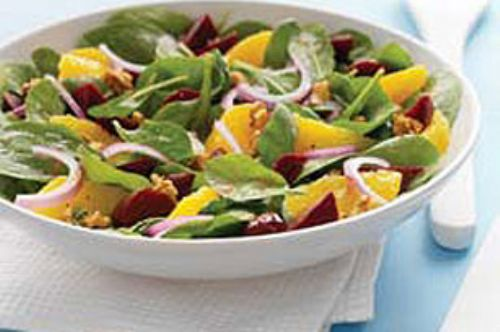 Citrus and  Beet Spinach Salad