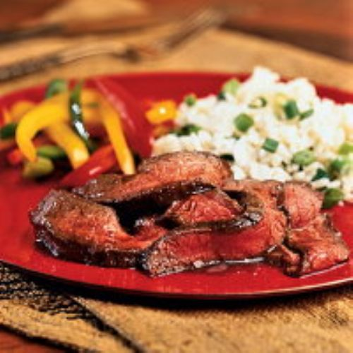 Grilled Flank Steak with Port Sauce