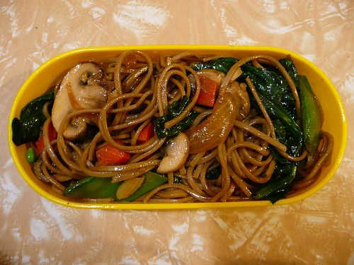 Japanese Stir-fried Buckwheat Noodles
