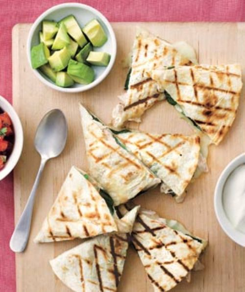 Chicken and Spinich Quesadillas