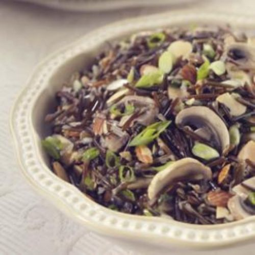 Wild Rice with Shiitakes and Toasted Almonds