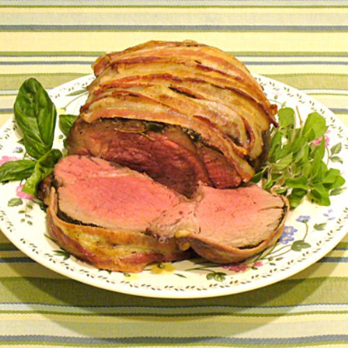 Bacon Herb Tenderloin Roast