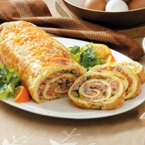 Ham & Cheese Omlet Roll