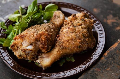 Breaded and Baked Chicken legs