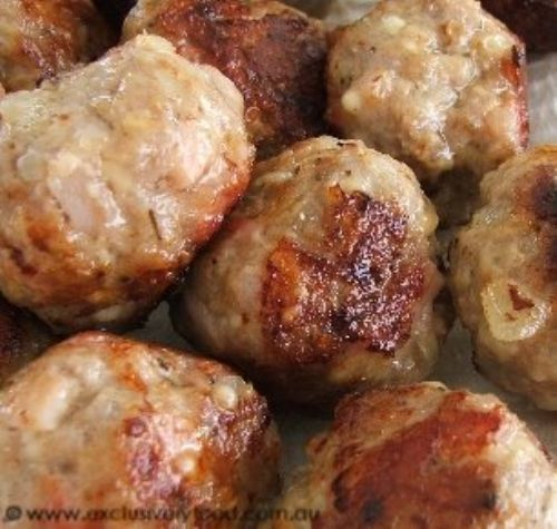 Store Bought Meatballs and Peppercorn Sauce