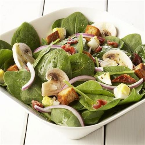 Spinach Salad with Lemon & Pepper Dressing