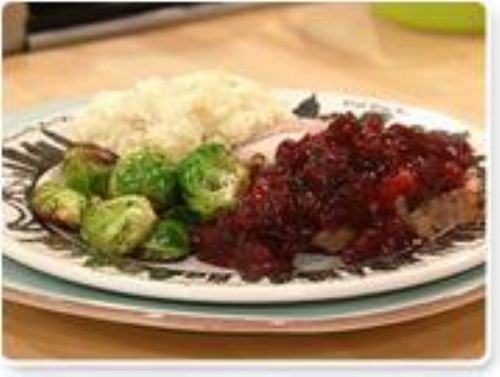 Roasted Pork with Cranberry Pomegranate Sauce, Bra