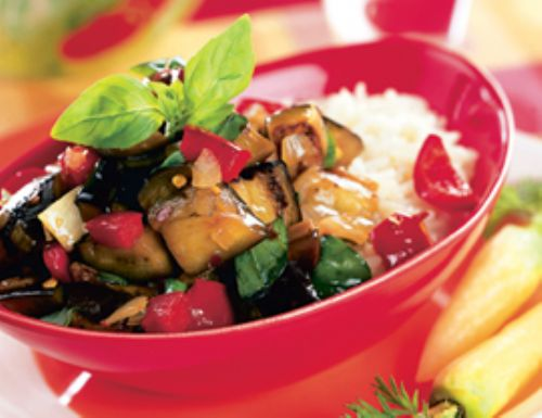 Thai Spicy Eggplant with Sweet Basil