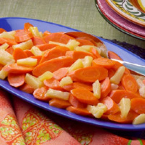 Hawaiian Pineapple Glazed Carrots