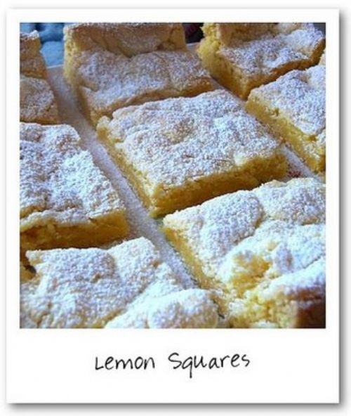 Lemon Squares Made From Cake Mix