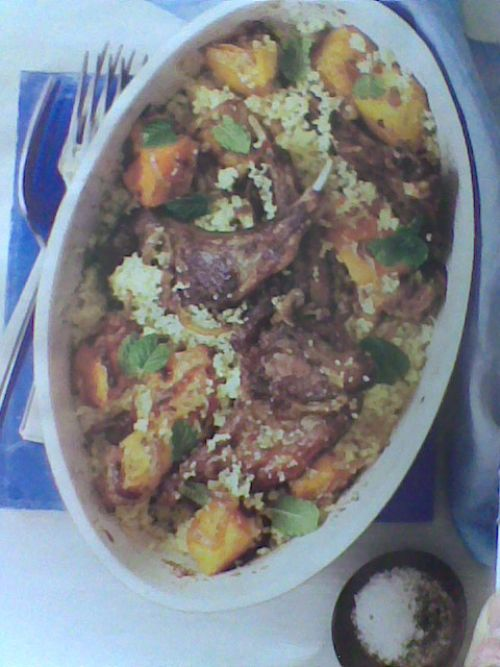 Moroccan Lamb Chops with Butternut and Couscous