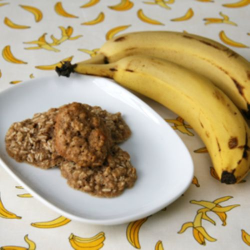Banana Oatmeal Drop Cookies
