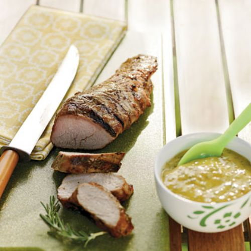 Peachy Pork Tenderloin