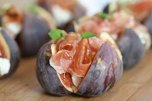 Figs with Jamon Serrano & Goat's Cheese