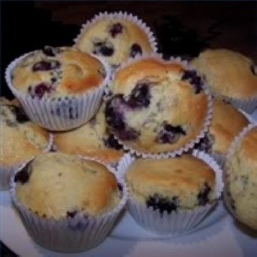 Best Blueberry Muffins (made from pancake mix)