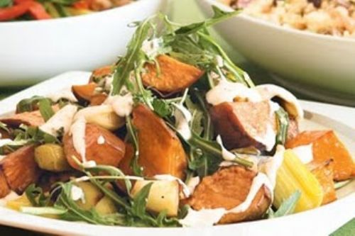 Roasted Leek and Sweet Potato Salad