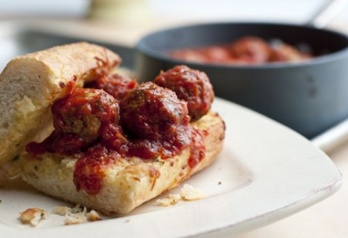 Mozzarella Meatball Sandwiches