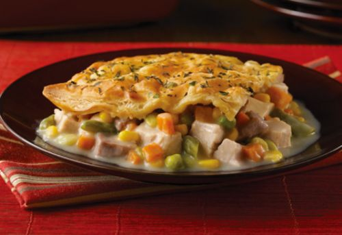 Savory Herb-Crusted Turkey Pot Pie