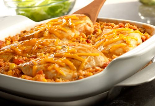 Fiesta Chicken & Rice Bake