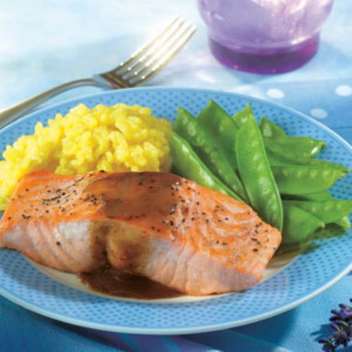 Salmon Fillets with Mustard Glaze