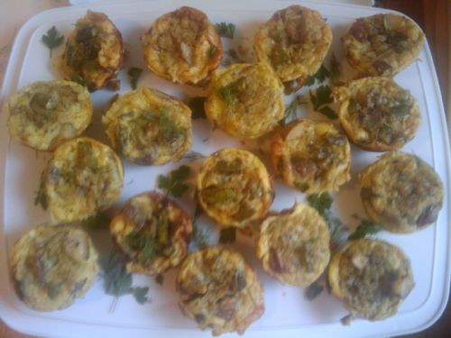 Caramelized Onion and Asparagus Mini Frittatas