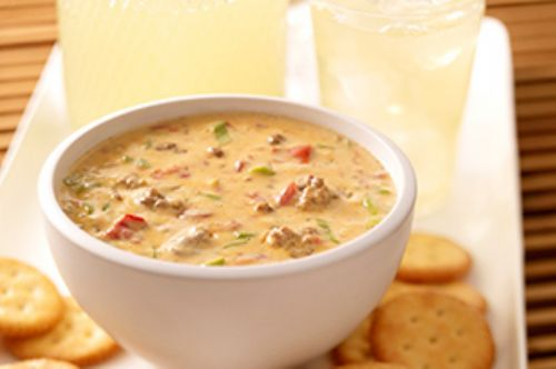 VELVEETA Spicy Cheeseburger Dip