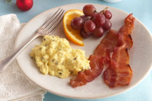 Creamy Scrambled Eggs With Brown-Sugared Bacon