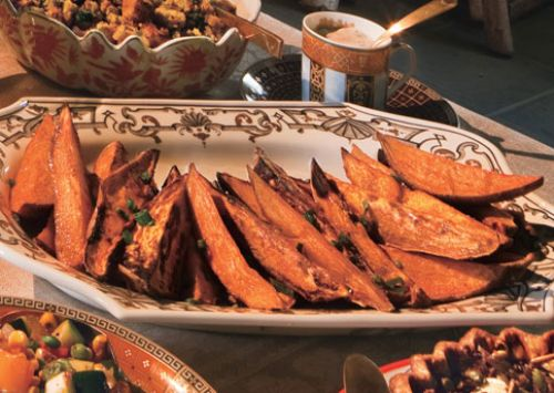 Sweet Potato Wedges With Smoked Chile Cream