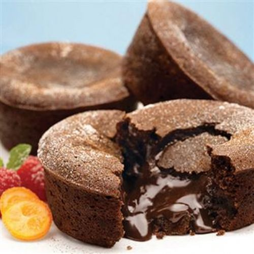 Molten Spiced Chocolate Cabernet Cakes