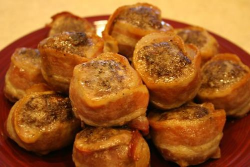 Beef and Bacon Pinwheels