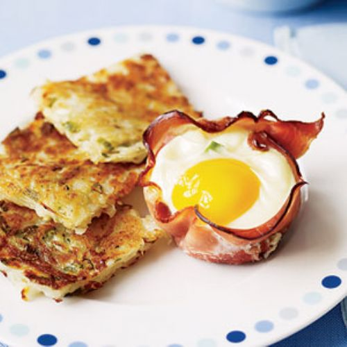 Ham & Egg Breakfast Cups with Hash Browns