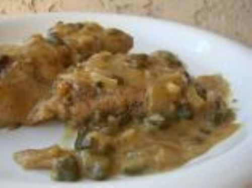 Pork Medallions with mustard-caper sauce