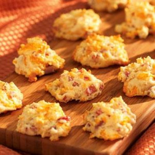 Cheesy Country Ham Biscuit Bites