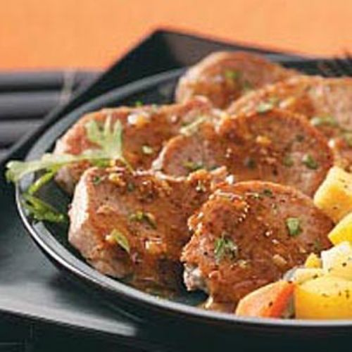 Pork Medallions in Mustard