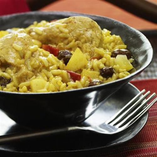 Slow Cooker Chicken Rice Curry