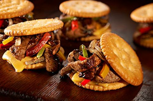 Guy Fieri's RITZ Cheese Steak Sliders