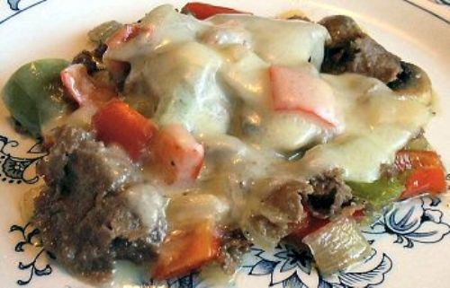 LOW CARB PHILLY CHEESESTEAK MELT