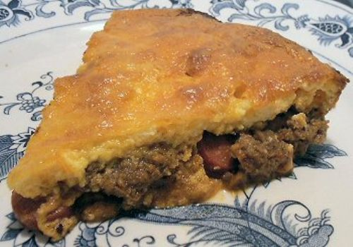 LOW CARB CHILI DOG PIE