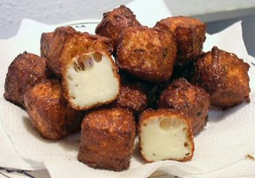 LOW CARB DEEP-FRIED CHEESE BITES