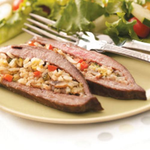 Rice-Stuffed Flank Steak