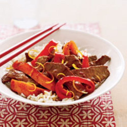 Orange Beef and Peppers