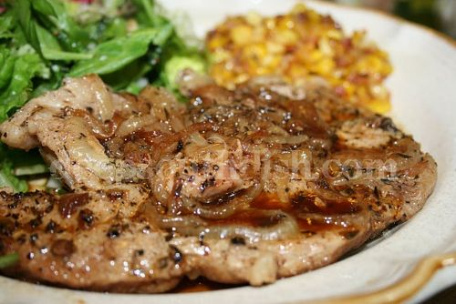 Low Carb Easy Pork Chop and Onion Bake
